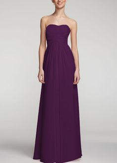 "Love this style for a long gown for bridesmaids, but the color ""oasis"" from DB"