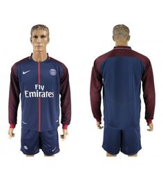 Billiga PSG Hemmatröja 17-18 Långärmad Psg, Paris Saint, Saint Germain, Neymar, Manchester United, Adidas Jacket, Saints, Barcelona, Athletic
