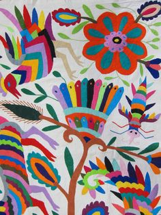 Mexican patterns - Otomi fabric and textiles for home decoration | da Mexico Culture