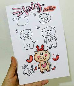 Pusheen, Kawaii Disney, Bullet Journal Themes, Barbie, Step By Step Drawing, Art Plastique, Digital Stamps, Cute Stickers, Origami