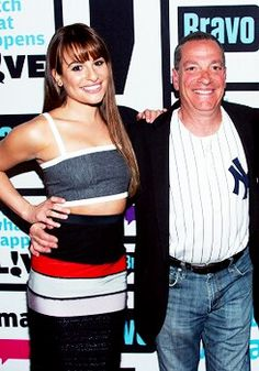 Lea Michele and her dad at WWHL ❤