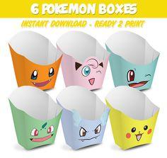 6 Popcorn Box Pokemon de Migueluche en Etsy