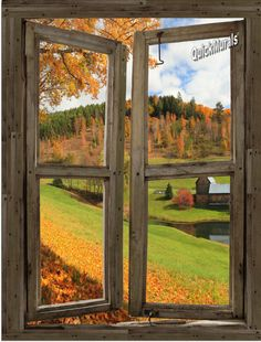 Vermont Cabin Window Peel & Stick (1 piece) Canvas Wall Mural