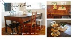 Completed project: Vintage Table with mix of old and new chairs - Love it!