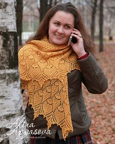 Ravelry: Project Gallery for Ozukuri Lace Shawl pattern by Alina Appasov