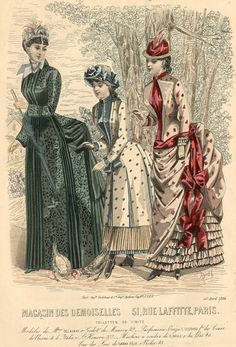 Victorian fashion plate, Magasin des Demoiselles 1884