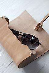 Taštičky - Dámske kožené púzdro na okuliare /5 farebných verzií/ - 7468165_