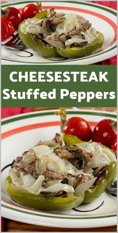 Healthy Recipes We stuffed all the goodness of a Philly cheesesteak into fresh peppers to come up with this diabetic-friendly recipe for Cheesesteak Stuffed Peppers. - Philly cheesesteak sandwiches are a popular American favorite, but they Beef Recipes, Low Carb Recipes, Cooking Recipes, Recipies, Cooking Pasta, Cooking Rice, Whole30 Recipes, Grilling Recipes, Vegetable Recipes