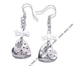 Dangle Eardrop Hook 925 Sterling Silver Charm Crystal Earring Jewellery Gift 41x14mm