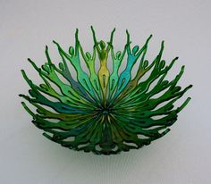 people could also be done with polymer instead of glass Fused Glass Bowl, Dichroic Glass, Mosaic Glass, Stained Glass, Glass Bowls, Mosaic Art, Mosaics, Glass Fusion Ideas, Kiln Formed Glass