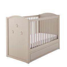 Lit bébé à barreaux en bois beige, 2 hauteurs L 126 cm 299.90€ - Maisons du Monde
