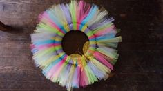 Spring Wreath from tulle