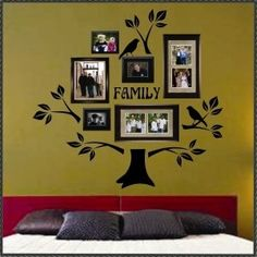 Family Tree Kit Vinyl Wall Quote Lettering Branches Trunk by tiquis-miquis