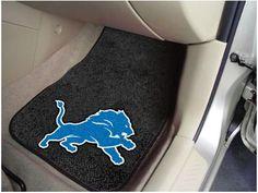 Detroit Lions NFL Football Logo Car Floor Mats - Carpet - 2 Piece Set