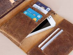 Leather Tri Fold Smartphone Wallet - Keep everything organised with our handy wallet