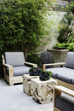 this outdoor living space (an eclectic mix of vintage, industrial & modern pieces) defines the latest home by San Francisco interior designer Antonio Martins