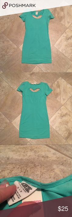 Victoria's Secret PINK teal heart back dress Brand new with tags! Size small from Victoria's Secret pink heart Cutout on back ❤️ PINK Victoria's Secret Dresses Mini
