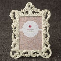 a3eac02ddff Opulent Brushed Gold Baroque 5 x 7 Frame. Lavish Favors and Gifts