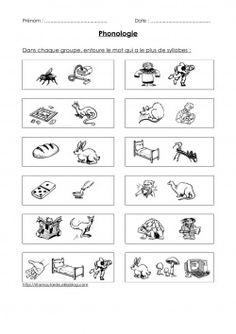 Comparer le nombre de syllabes