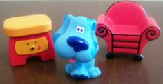 Blues Clues House Figures Cake Toppers BLUE SIDE TABLE DRAWER & THINKING CHAIR