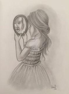 DaisyPearl7's DeviantArt Gallery #pencildrawing #realisticdraw #girl #blackandwhite #woman #drawing #portrait #portraitdrawing #female #hair #hiper #hiperrealistic #mirror #beauty #dress