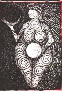 Mujer Cíclica - Imagen: Goddess of Laussel, Lisa Aerianna Tayerle Gaia Goddess, Mother Goddess, Goddess Symbols, Goddess Tattoo, Sacred Feminine, Feminine Energy, Divine Mother, Gods And Goddesses, Ancient Art
