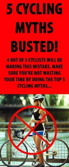 5 Cycling Myths Busted. #cycling #cyclingmyths #cyclingtips #cyclingadvice
