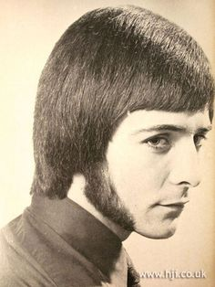 1971 hairstyle with pork chop side burns.  Are you laughing??