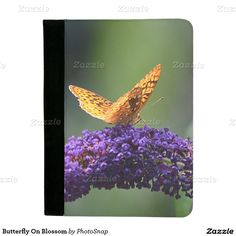 Butterfly On Blossom Padfolio