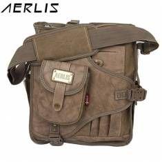 AERLIS Men Canvas Multifunctional Casual Outdoor Travel Crossbody Bag