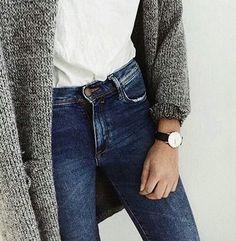 #jeans #montre #gilet