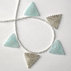 Winter Themed Beaded Bunting Necklace £15.00
