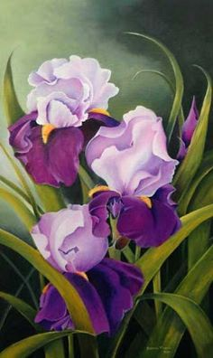on canvas paintings flowers oil flowers cartridges painted in oil – deborah golden – Join the world of pin Iris Painting, China Painting, Silk Painting, Painting & Drawing, Art Floral, Watercolor Flowers, Watercolor Paintings, Canvas Paintings, Iris Art