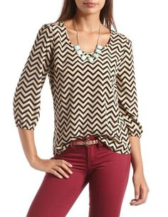 Chevron top...love this outfit.