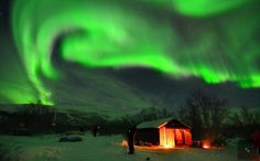 Nothern Lights from high altitudes of Sweden