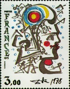 Postage stamp designed by Salvador Dali.