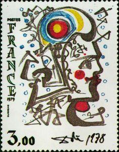 Postage stamp designed by Salvador Dali.