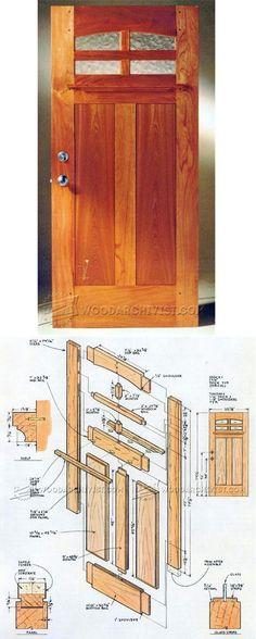 Front Door Plans - Door Construction and Techniques | WoodArchivist.com