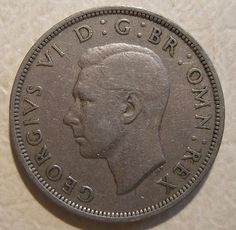 GREAT BRITAIN, GEORGE VI ---HALF CROWN 1948