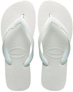 Havaianas Women's Top Sandal Flip Flop, White, 35 BR/6 W ...