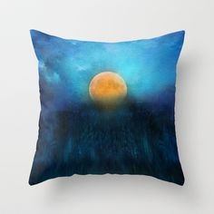 The rising of the moon Throw Pillow by Viviana Gonzalez - $20.00