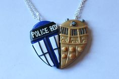 Tardis and Dalek Inspired Friendship Necklaces on Etsy, $17.28 @Ashlin Crout Im pretty sure I love it.