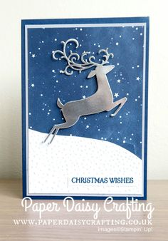 Dashing Deer Bundle from Stampin' Up! Christmas Cards 2018, Christmas Card Crafts, Homemade Christmas Cards, Christmas Deer, Christmas Greeting Cards, Greeting Cards Handmade, Homemade Cards, Christmas Vacation, Winter Cards