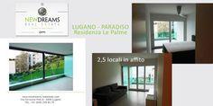 APPARTAMENTO IN AFFITTO ANCHE PER PERIODI BREVI. (3-10 MESI) Questo bellissimo appartamento si trova nella residenza di lusso Le Palme, a Paradiso e gode di vista sul lago di Lugano. Composto di 2.5 locali di 51 mq abitabili con una grande terrazza coperta di 22 mq. Dotato di una lavanderia privata completamente attrezzata di 6 mq. Completano l'oggetto 1 posto auto in autorimessa. L'appartamento viene affittato parzialmente arredato. www.newdreams-realestate,com