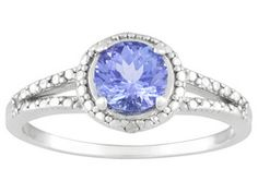 .91ctw Round Tanzanite And Round Diamond Accent Sterling Silver Ring Eav $159.00