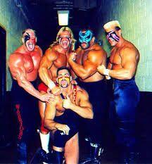 Hawk, Lex Luger, Animal, Sting, &Nikita Koloff in face paint.