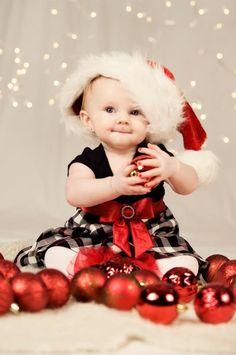 Christmas baby pictures - this is my oldest daughter Makenzie at 7 months old.