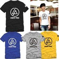 Wish | Top Quality Men's Shirt Rock Band Linkin Park T Shirt Men New Brand O-Neck Man T-shirt Linkin Park Printed Tops Tees