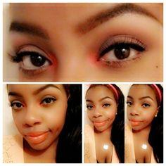 Spring Makeup Look: Nature eye makeup with a pop of color https://www.makeupbee.com/look.php?look_id=96712