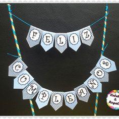 Mini banderín, topper para tortas #minibanderin #banderín #toppers #felizcumpleaños Ideas Para Fiestas, Mini, Photo And Video, Diamond, Jewelry, Instagram, Videos, Google, Photos